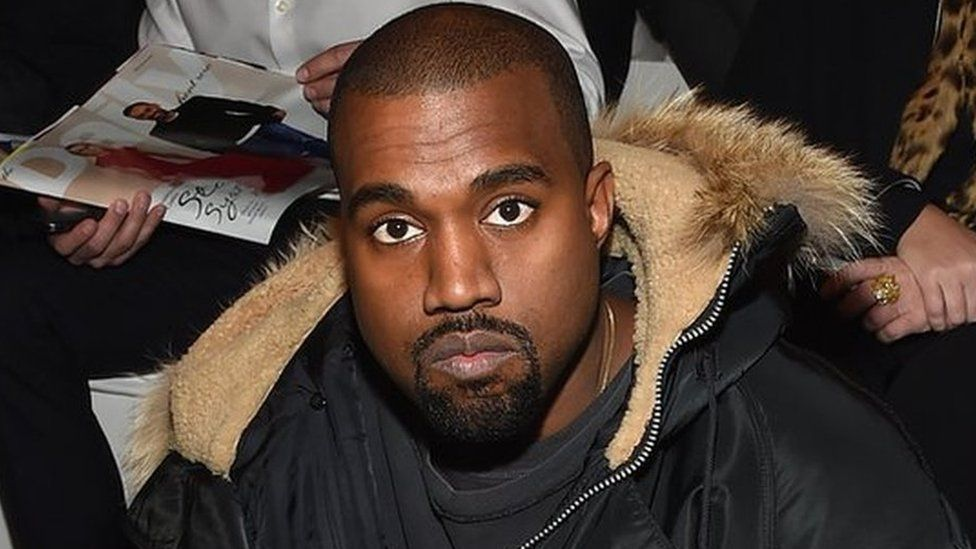 Kanye at a fashion show