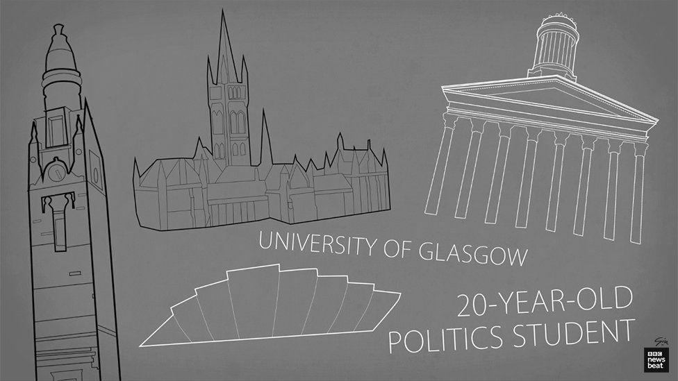 Cartoon of University of Glasgow