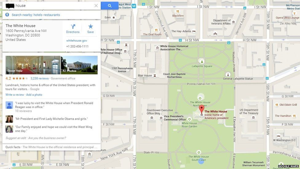 The White House given racist label on Google Maps - BBC Newsbeat