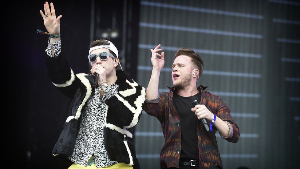 Nick Grimshaw and Olly Murs