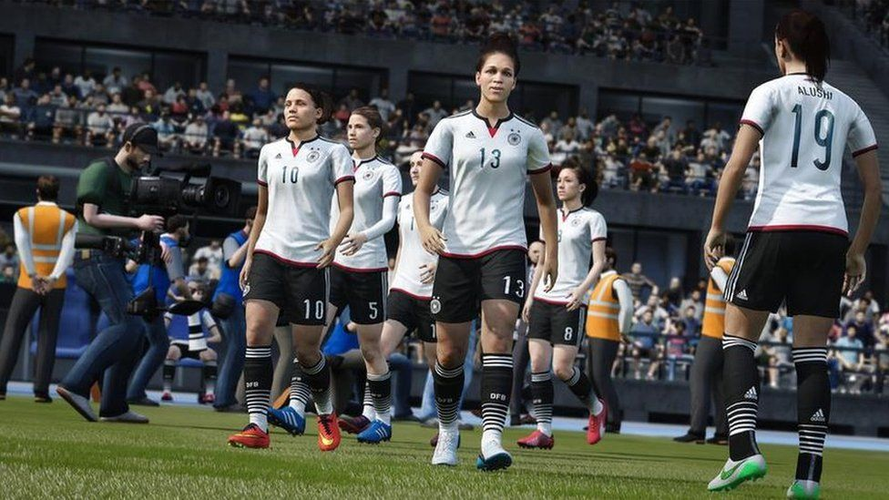 Computer Generated Images Of Womens Football Players Fifa