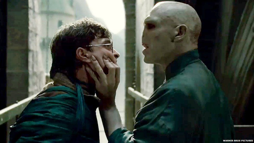 Harry and Lord Voldemort having a bit of a row