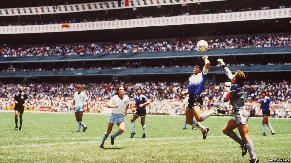 Diego Maradona against England