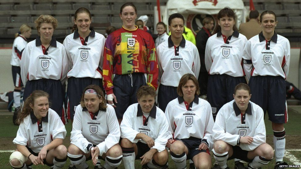 The England team in 1997