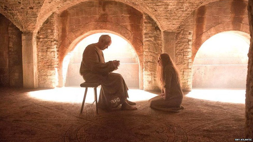 A conversation between Cersei Lannister and the High Sparrow