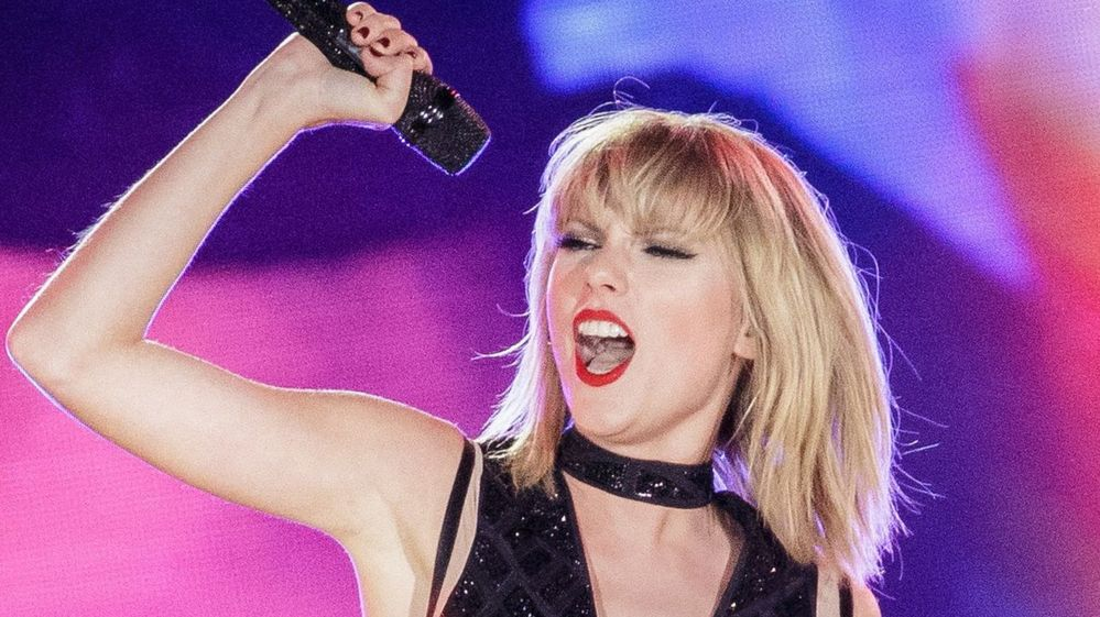File image of Taylor Swift on stage