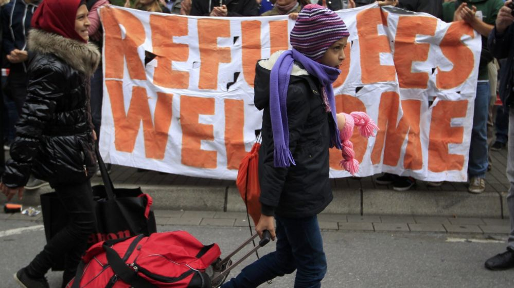 Migrants arriving in Dortmund