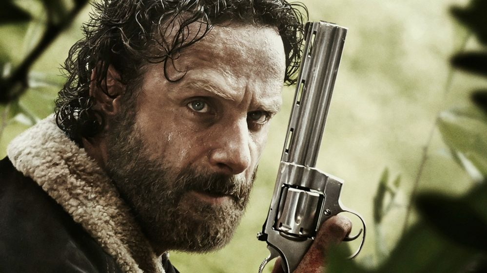 Andrew Lincoln as sheriff Rick Grimes