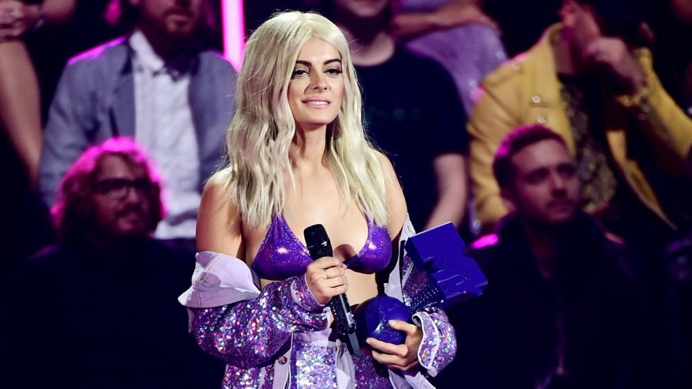 Image caption MTV EMA host Bebe Rexha got through 15 different outfits at  the awards 3df6bab204d