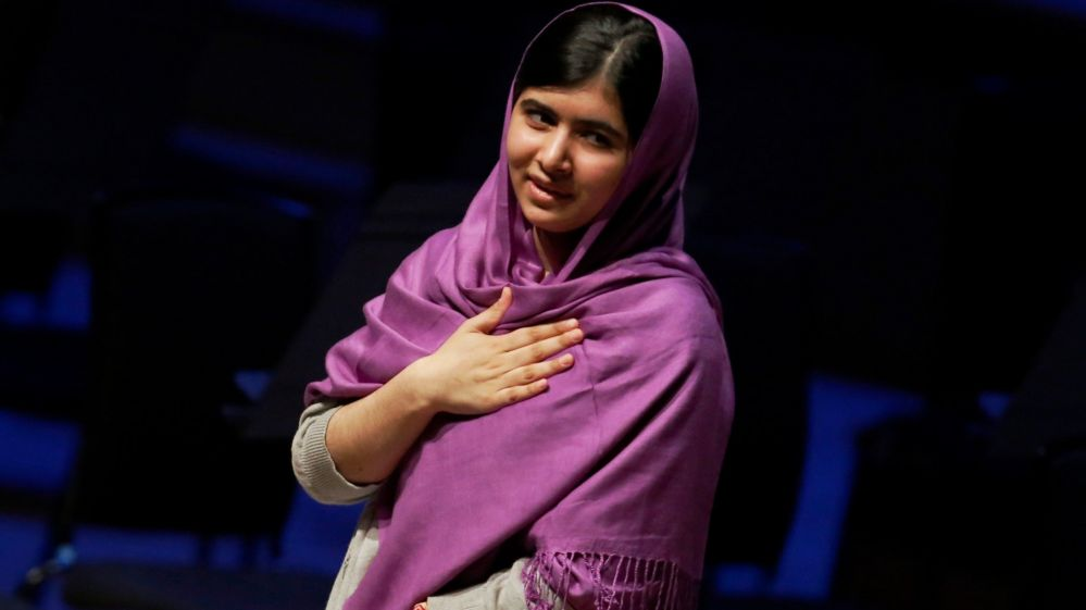 Malala Yousafzai in London on 8 March 2014