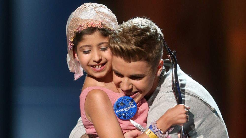 Grace Kesablak and Singer Justin Bieber