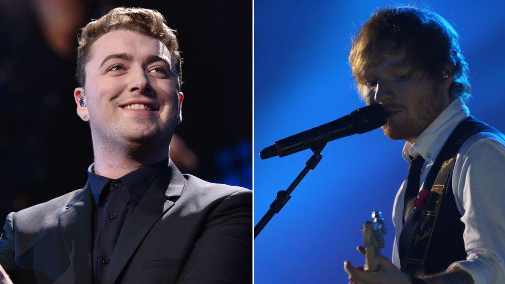 Sam Smith and Ed Sheeran