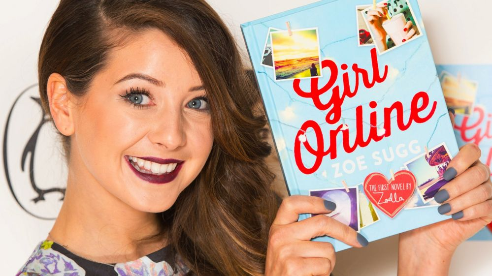 Zoella holding Girl Online