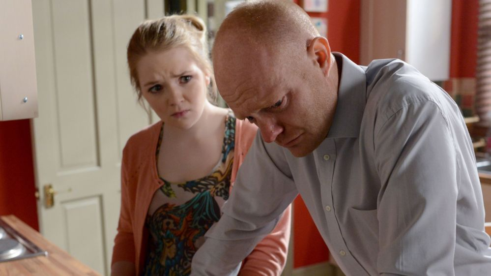 Max Branning, played by Jake Wood, and Abi Branning, played by Lorna Fitzgerald
