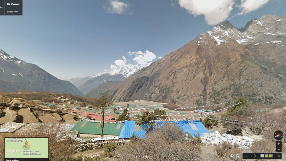 Google view of the mountains