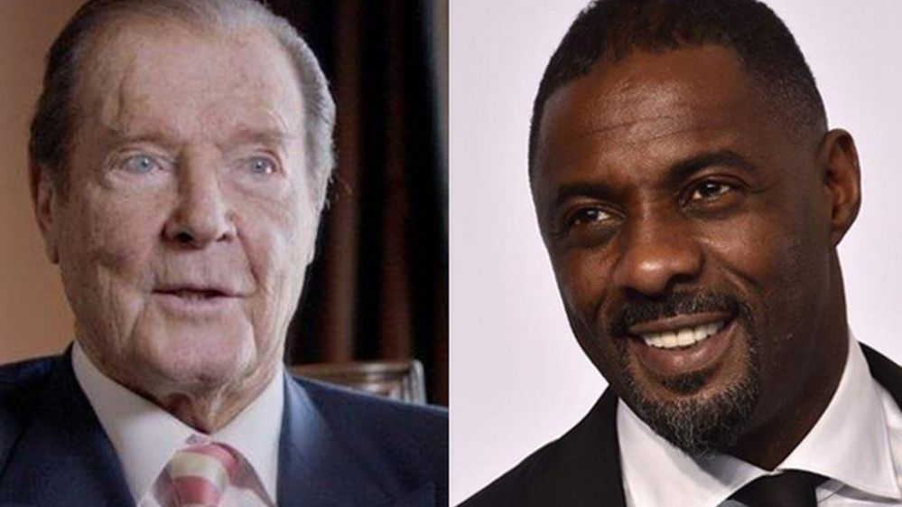 Sir Roger Moore and Idris Elba