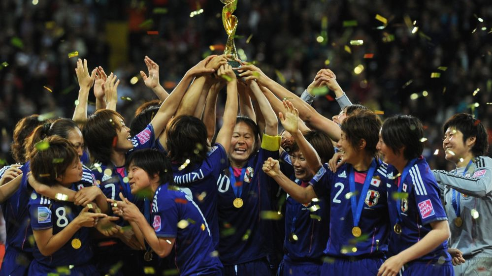 Japan celebrate World Cup win in 2011
