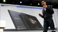 Sundar Pichai of Google announces a Samsung Chromebook