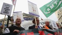 Bob Crow's RMT campaigning against ticket office closures