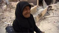 Palestinian refugee Wafiqa in Yarmouk camp