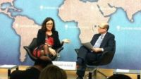 Anna Malmstrom and Nick Robinson