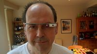 Rory Cellan Jones wearing Google Glass
