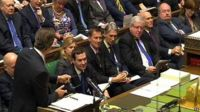 David Cameron surrounded by his cabinet at Prime Minister's questions
