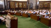 Narendra Modi addressing BJP MPs