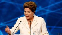 President Dlma Rousseff during a TV debate on 26 August, 2014