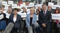 Ruth Davidson, Johann Lamont and Willie Rennie