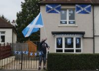 Yes campaign supporter in Glasgow, 15 Sep 14