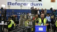 Ballot boxes arriving for referendum count