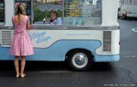 Vintage Scoops is the home of Betty, a 1973 Bedford ice cream van owned by Vic and Fiz McMullen who serve locally sourced traditional ice cream