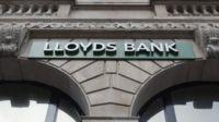 Lloyds sign outside bank branch