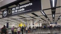 passport control, Gatwick