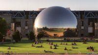 The La Geode at Parc de la Villette in Paris