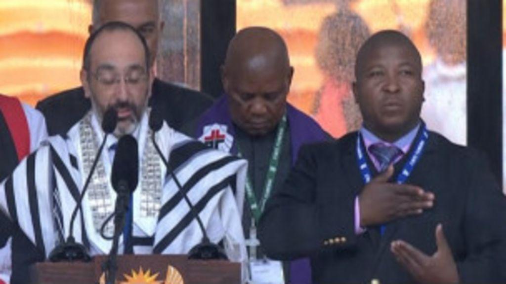 Linguagem de sinais de evento de Mandela 'não fez sentido', dizem ...