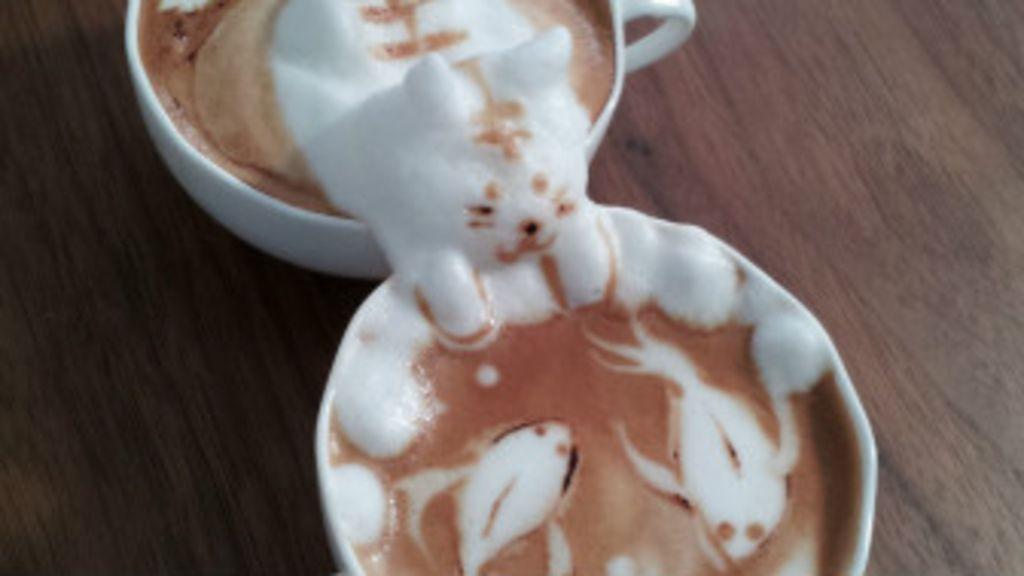 A incrível arte 3D em espuma de café de Kazuki Yamamoto - BBC ...