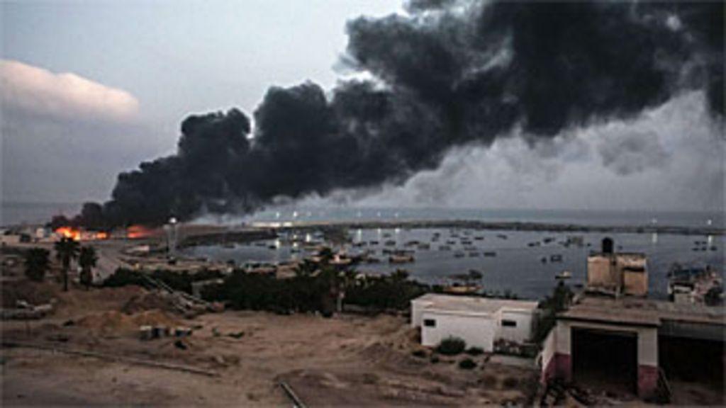 Em imagens: bombardeios pesados causam noite de destruição em ...
