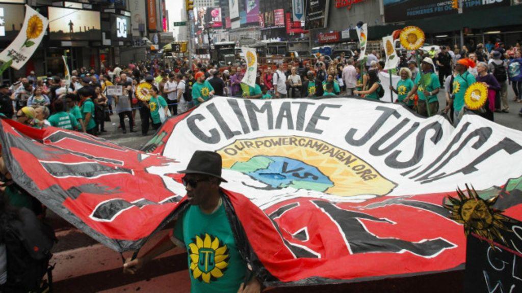 Manifestações pelo clima se espalham pelo mundo - BBC Brasil