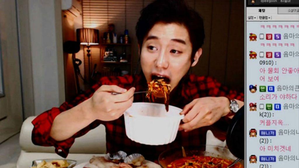 Coreanos ganham dinheiro para comer diante da webcam - BBC ...
