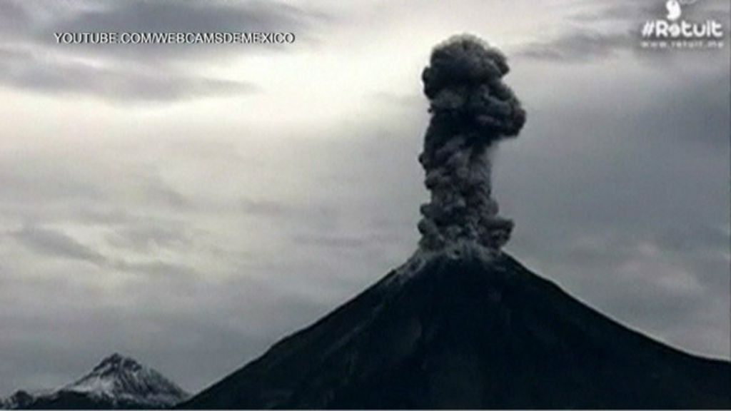 Câmera registra explosão de vulcão no México - BBC Brasil