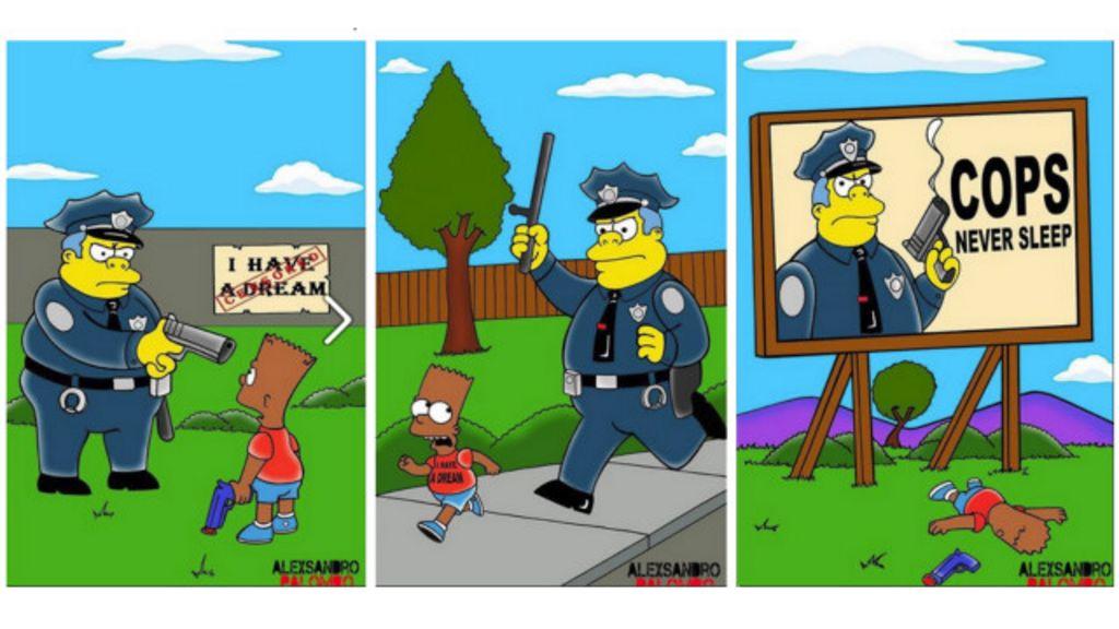 Artista cria 'Simpsons negros' contra racismo nos EUA - BBC Brasil
