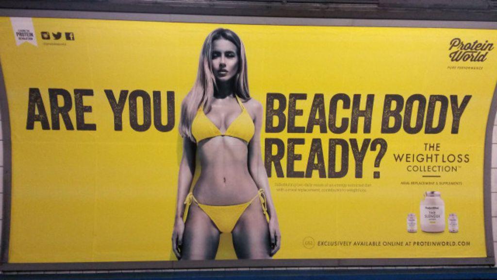 Anúncio com corpo 'inatingível' gera protesto de feministas - BBC ...