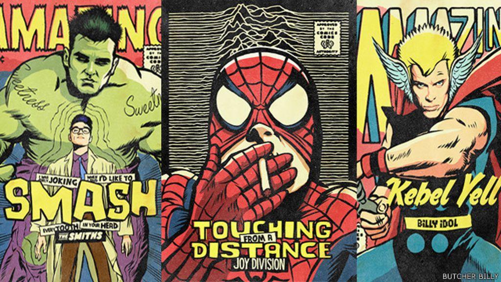 Artista brasileiro trasforma ídolos pop em super-heróis da Marvel e DC