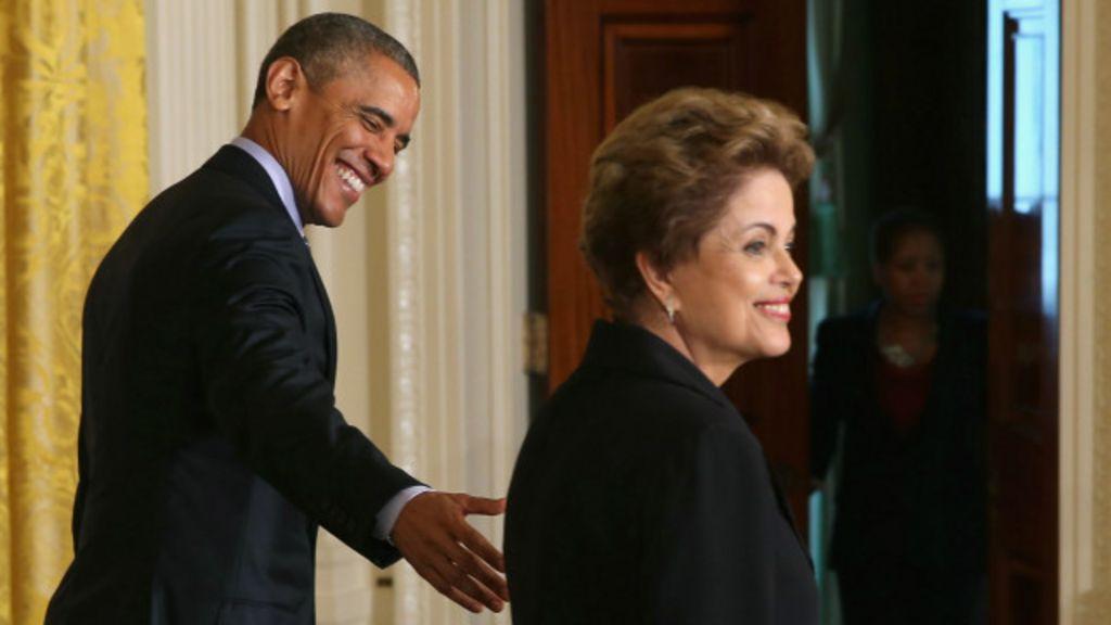Durante encontro com Dilma, Obama diz ver Brasil como ' potência ...
