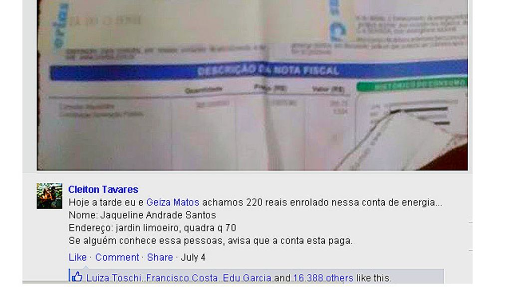 Casal baiano acha boleto com R$ 220 na rua e paga conta de idosa ...