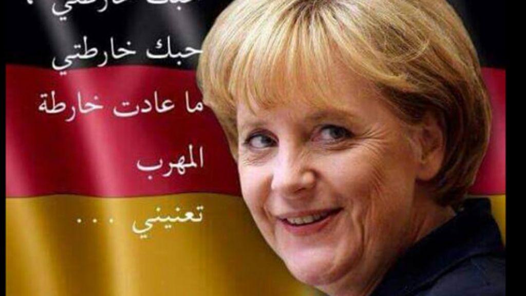 Sírios inundam redes com mensagens de amor para Merkel - BBC ...