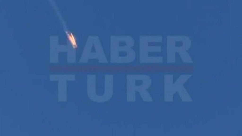 Imagens mostram aeronave russa derrubada pela Turquia - BBC ...