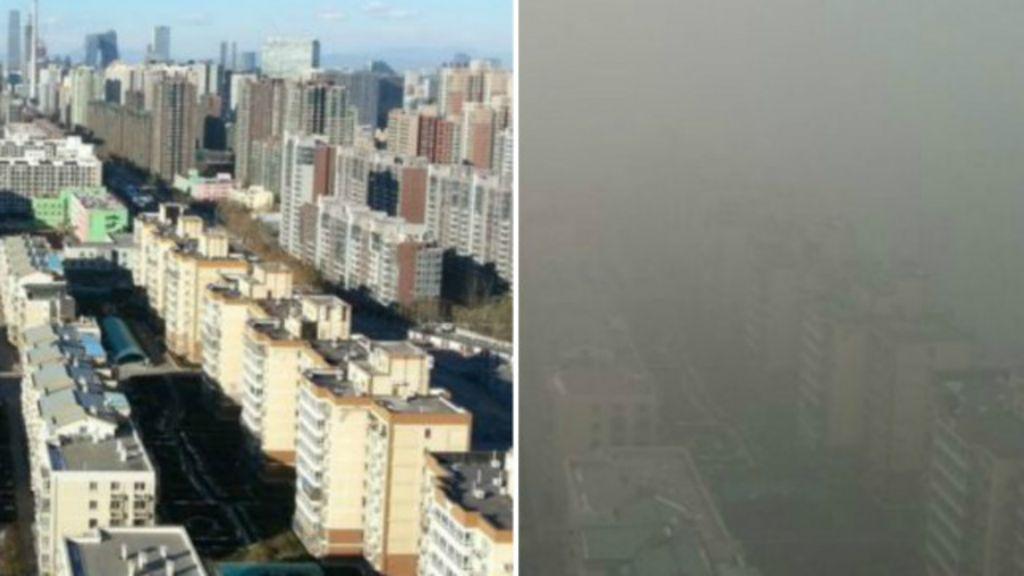 Antes e depois: Pequim declara alerta vermelho por poluição - BBC ...